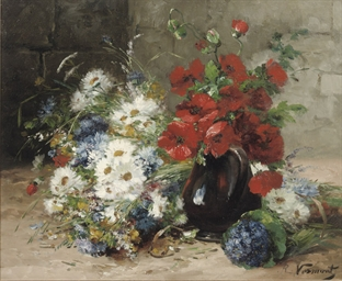 A summer-bouquet with poppies