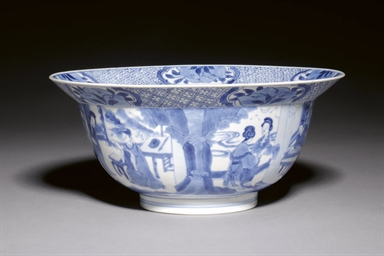 A BLUE AND WHITE BOWL, KANGXI