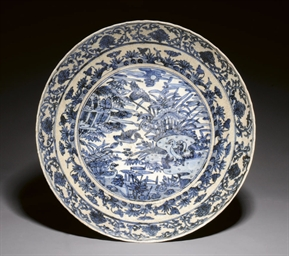 A BLUE AND WHITE SWATOW WARE D