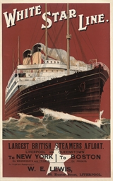 WHITE STAR LINE TO NEW YORK, T