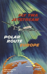 FLY TWA JETSTREAM, POLAR ROUTE