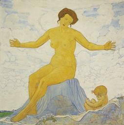 Mère et enfant, um 1917