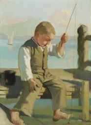 Der kleine Fischer, um 1879