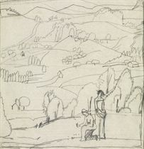 Toggenburger Landschaft mit Frauenfiguren, 1909