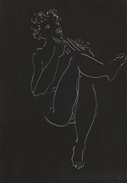Jüngling mit Panflöte, 1942