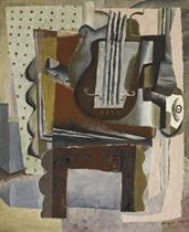 Stillleben mit Guitarre und Klarinette, 1933