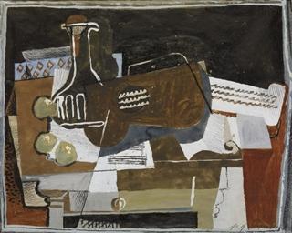 Guitarre auf Tisch, 1932