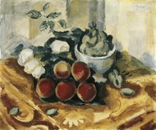 Stillleben mit Pfirsichen