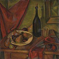 Stillleben mit Flasche und Birnen, um 1920