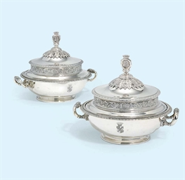 A PAIR OF AUSTRIAN SILVER SAUC