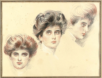 Three head studies of the arti