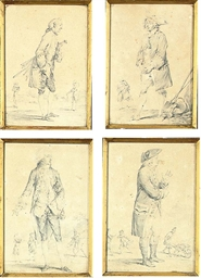 A set of four costume studies