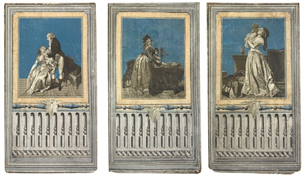 Three panels, possibly from a