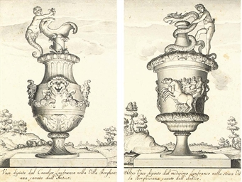 Two classical vases, after Gio