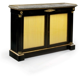 A REGENCY ORMOLU-MOUNTED EBONI