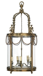 A FRENCH ORMOLU FIVE-LIGHT HAL