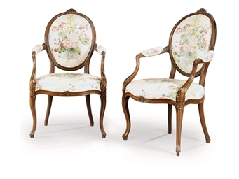 A PAIR OF GEORGE III SOLID MAH