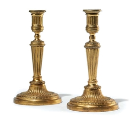 A PAIR OF LOUIS XVI ORMOLU CAN