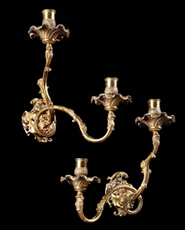 A PAIR OF GERMAN ORMOLU TWIN-L