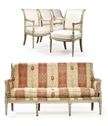 A SUITE OF LOUIS XVI WHITE PAI