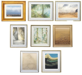 A GROUP OF EIGHT PAINTINGS