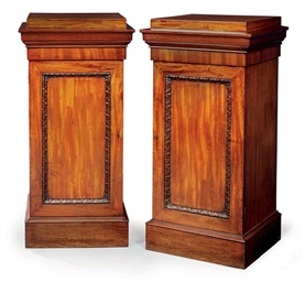 A PAIR OF GEORGE IV MAHOGANY D