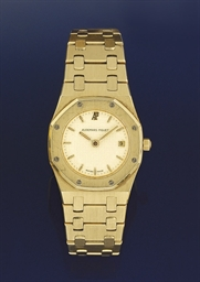 A lady's 18ct. gold quartz