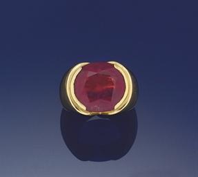 A tourmaline ring