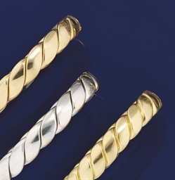 A SET OF THREE BANGLES