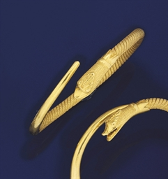 Two serpent bangles