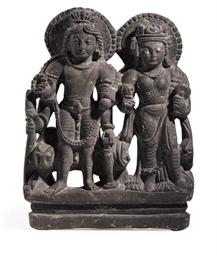 A green schist figure of Shiva