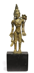 A small bronze figure of Padma