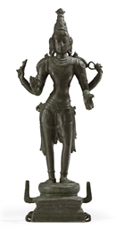 A bronze figure of Ayudha-Puru