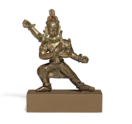 A gilt bronze figure of a Vajr
