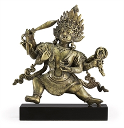 A bronze figure of Bhairava