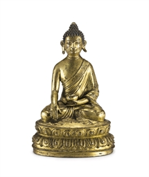 A gilt bronze figure of Amitab