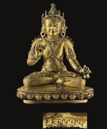 A gilt bronze figure of Ghanta