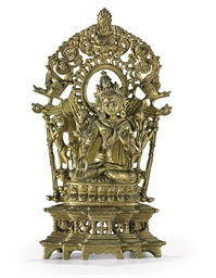 A bronze figure of White Tara