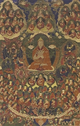 A thangka of Tsongkhapa in a F
