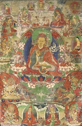 A thangka of Padmasambhava