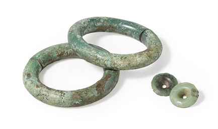 A Pair of Bronze Ear Ornaments