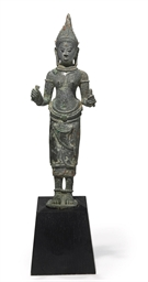 A bronze figure of Uma