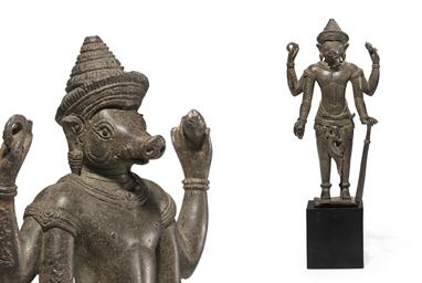 A bronze figure of Varaha