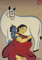 Untitled (Yashoda and Krishna)