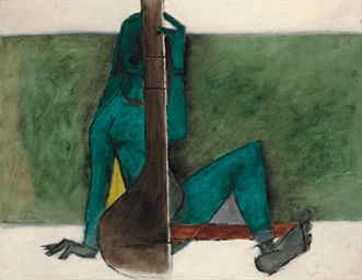 Untitled (Lady with Tanpura)