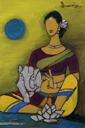 Untitled (Ganesha and Parvati)