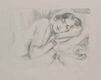 Figure endormie aux Babouches