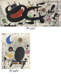 One plate, from: Miró - L'Oise