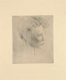 Tête de Femme, de profil (Bloc