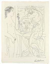 Modèle nu et Sculptures, from: